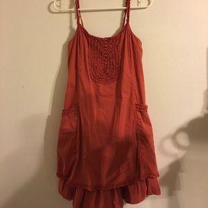 BCBGMaxAzria Burnt Orange Dress with Pockets